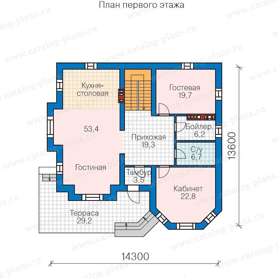 План 2-этажа проекта 58-71