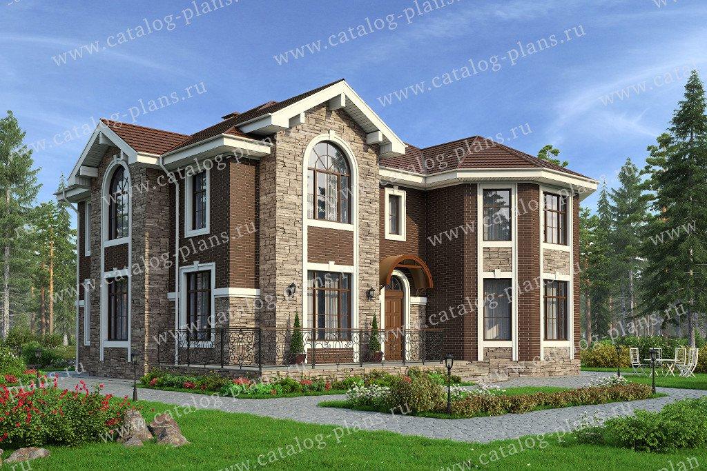 Проект жилой дом #40-11KL материал - кирпич, стиль европейский