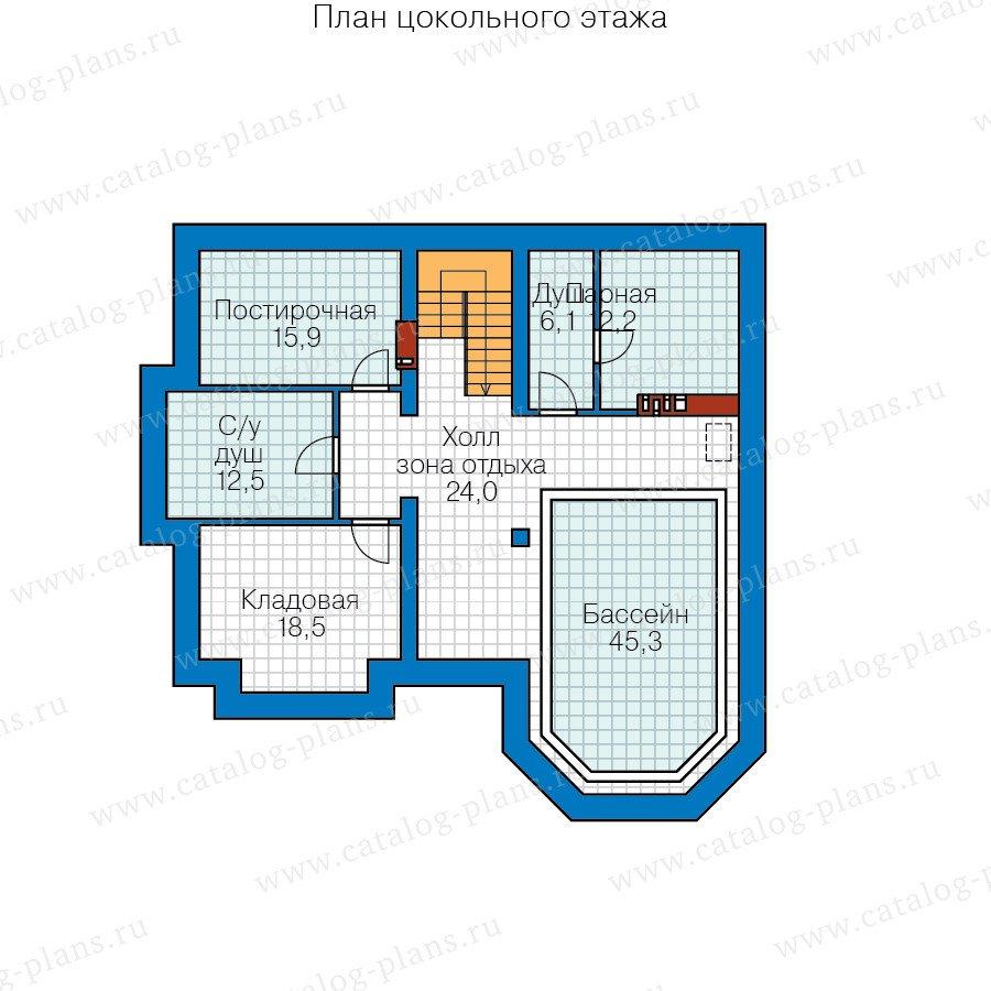 План 1-этажа проекта 58-71