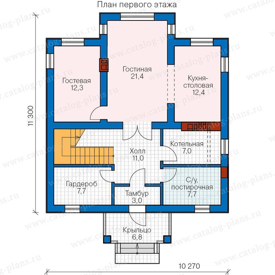 План 1-этажа проекта 57-12A