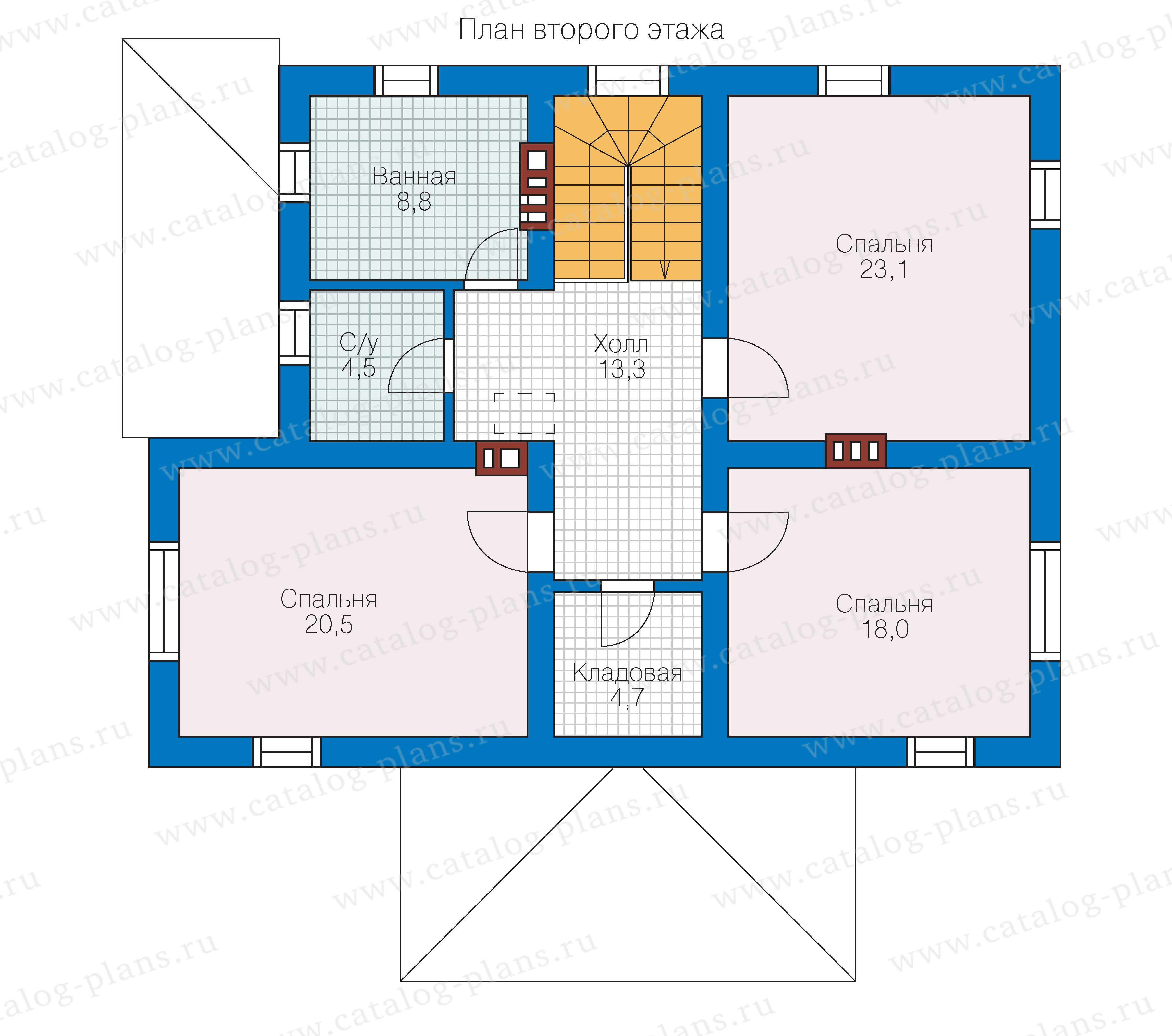 План 2-этажа проекта 57-03