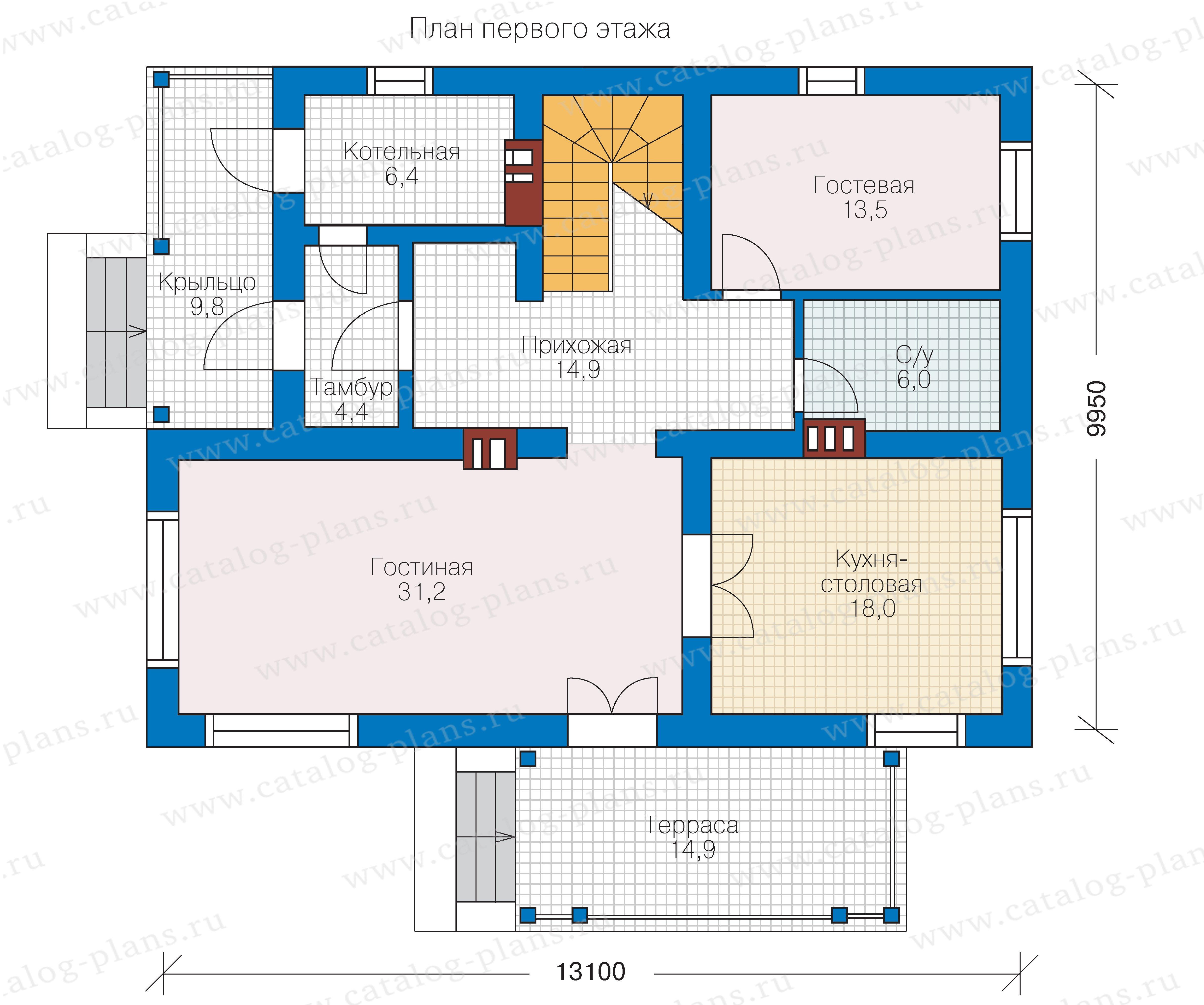 План 1-этажа проекта 57-03