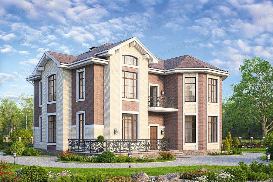Проект жилой дом #58-71 материал - газобетон, стиль классический
