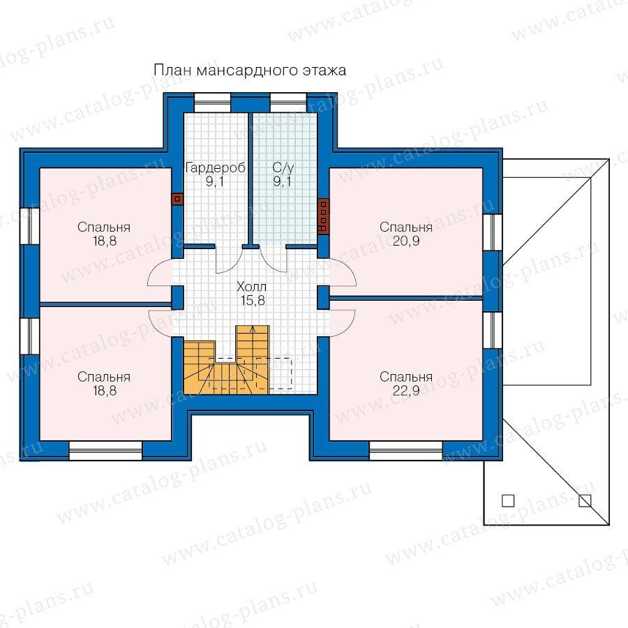План 2-этажа проекта 40-60
