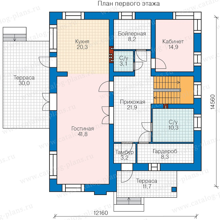 План 1-этажа проекта 48-24B