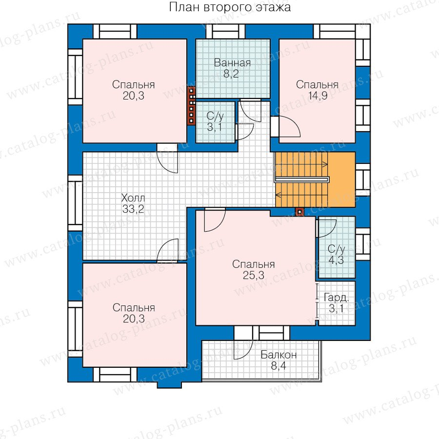 План 2-этажа проекта 48-24B