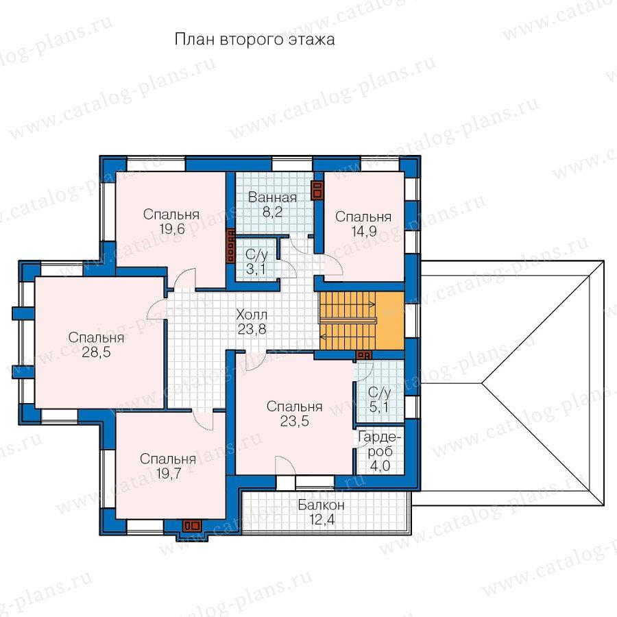 План 2-этажа проекта 48-24D