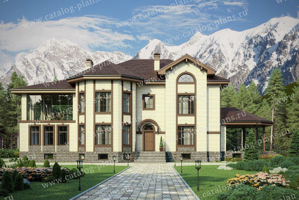 Проект жилой дом #40-67 материал - кирпич, стиль европейский