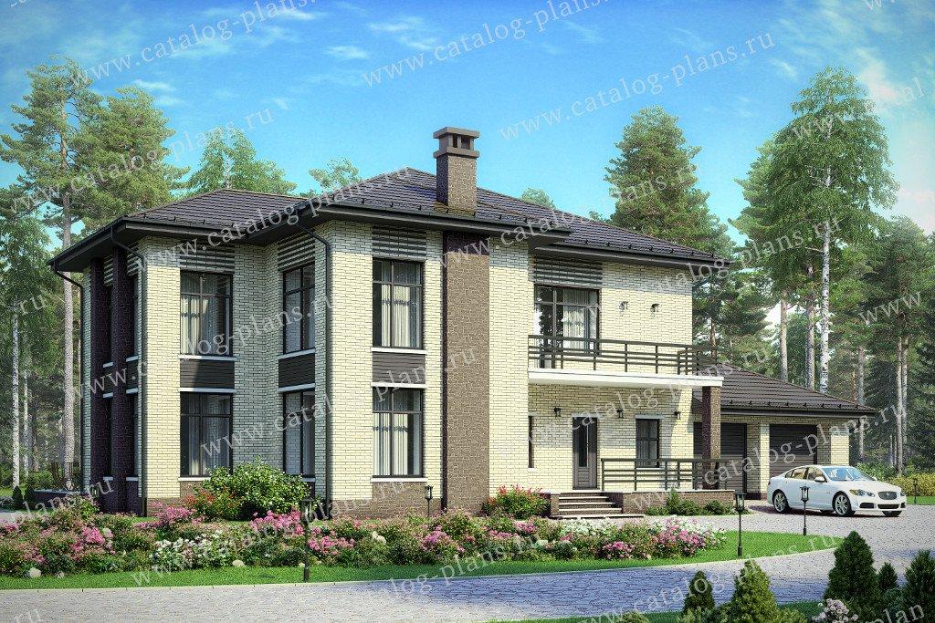 Проект жилой дом #48-24D материал - кирпич, стиль современный