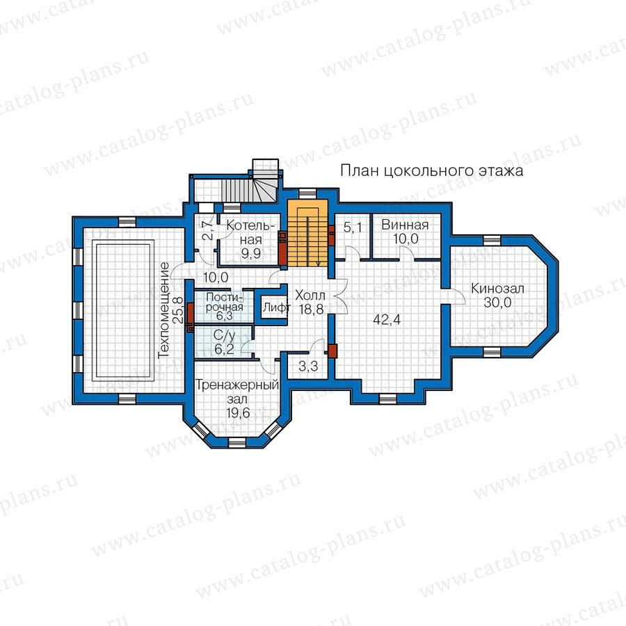 План 1-этажа проекта 40-67