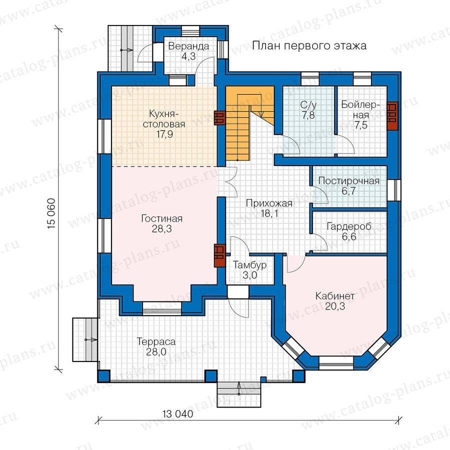 План 1-этажа проекта 40-11T