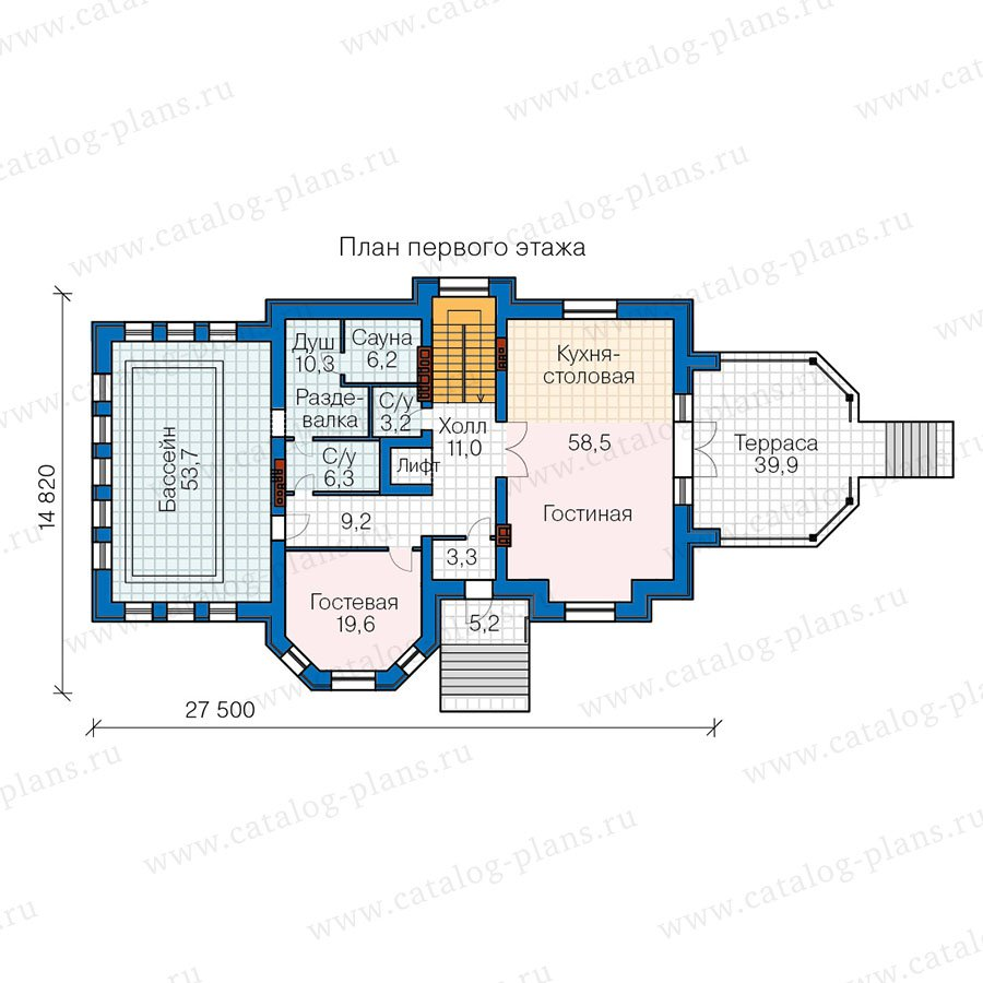 План 2-этажа проекта 40-67