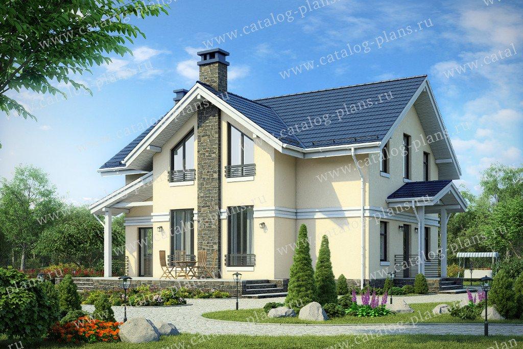 Проект жилой дом #58-79 материал - газобетон, стиль европейский