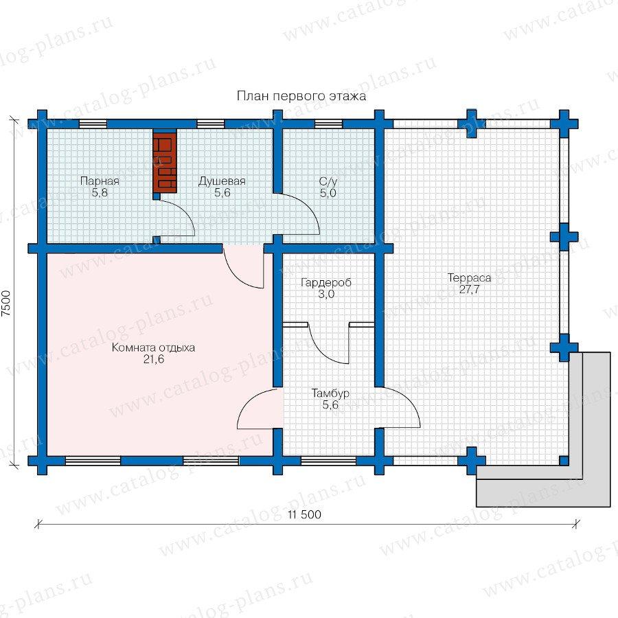 План 1-этажа проекта 90-45