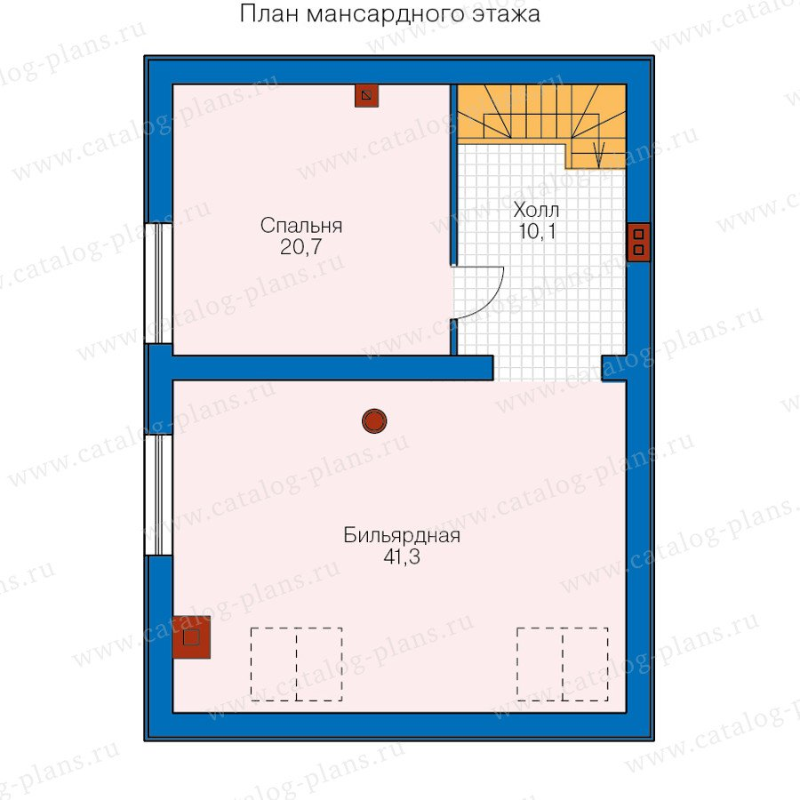 План 2-этажа проекта 60-96