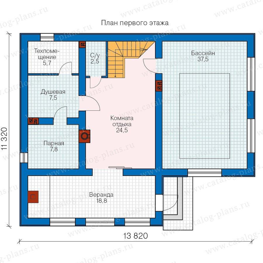 План 1-этажа проекта 60-96