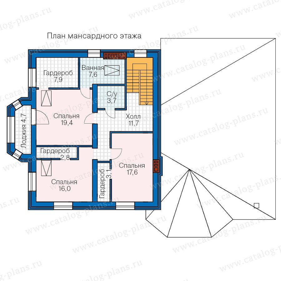 План 3-этажа проекта 40-68