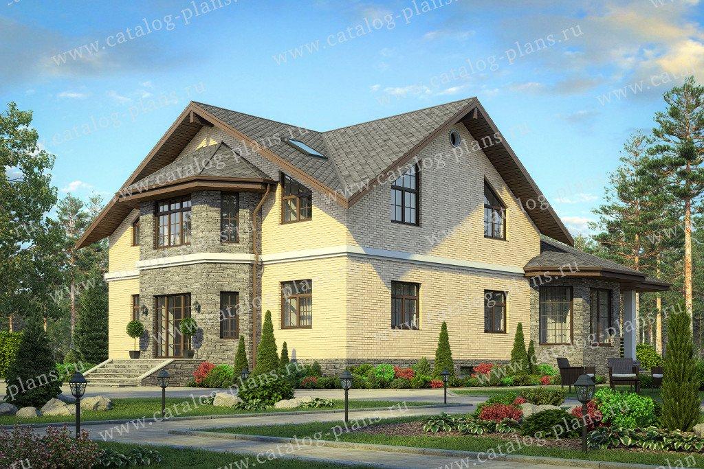 Проект жилой дом #40-68 материал - кирпич, стиль европейский