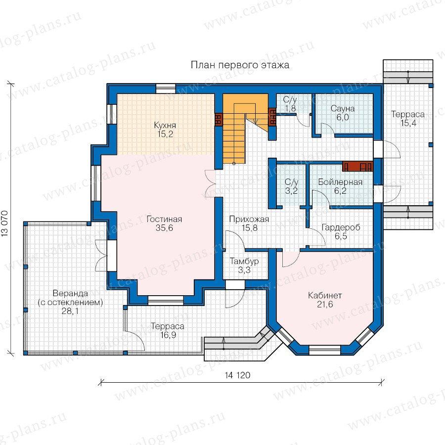 План 1-этажа проекта 40-11M