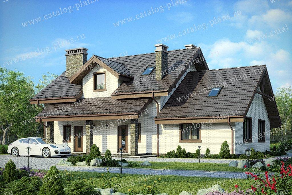 Проект жилой дом #40-58L материал - кирпич, стиль скандинавский