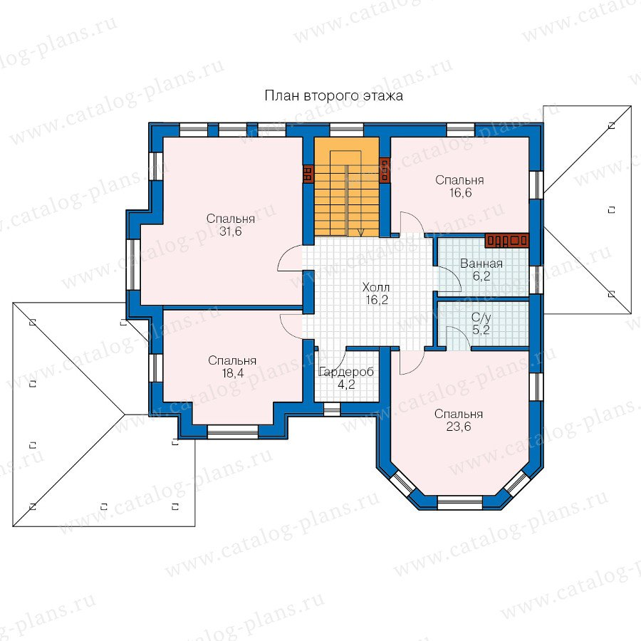 План 2-этажа проекта 40-11M
