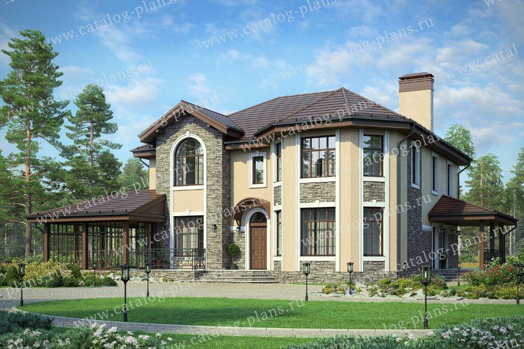 Проект жилой дом #40-11M материал - кирпич, стиль европейский