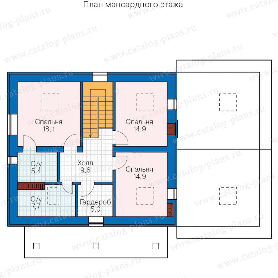План 2-этажа проекта 40-58L
