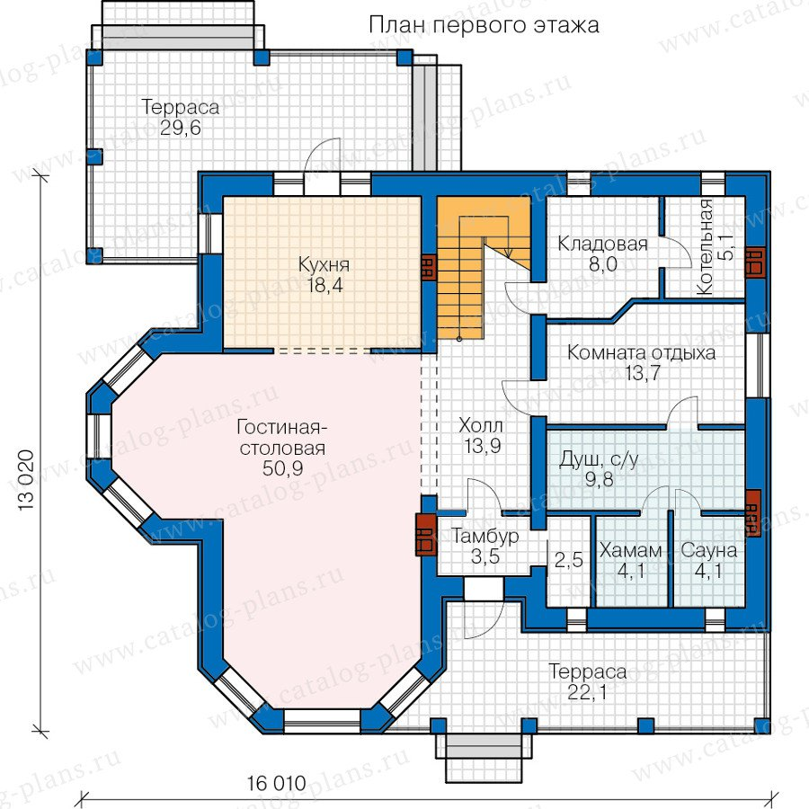 План 1-этажа проекта 40-65L