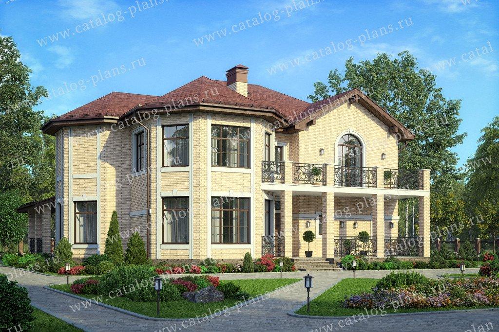 Проект жилой дом #40-65L материал - кирпич, стиль европейский