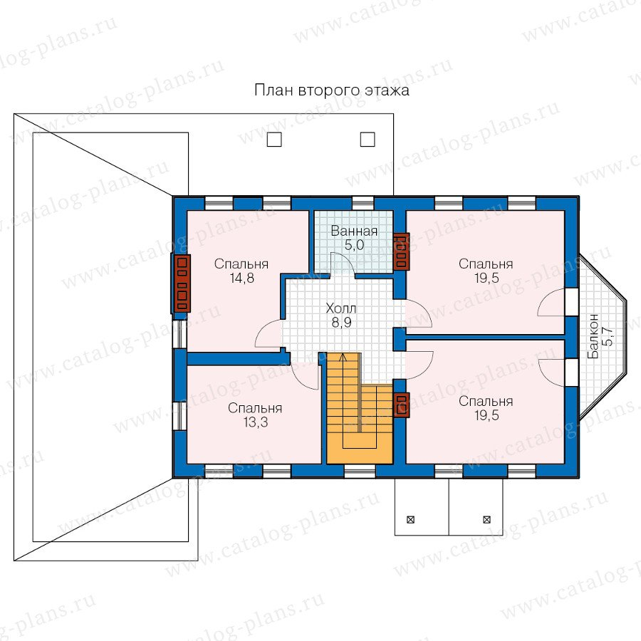 План 2-этажа проекта 57-29A