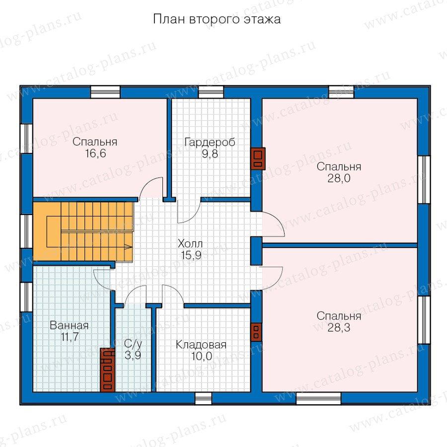 План 2-этажа проекта 57-47C