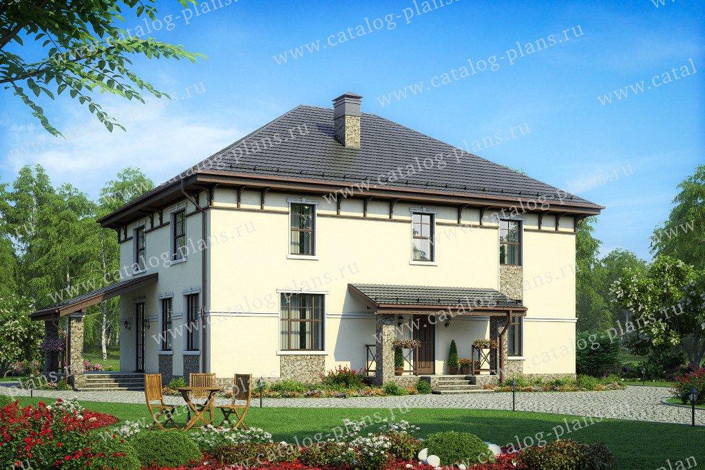 Проект жилой дом #57-47C материал - газобетон, стиль современный