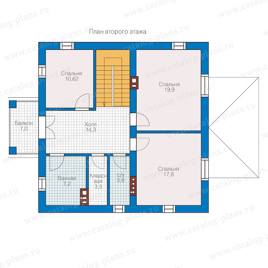 План 2-этажа проекта 57-05KL