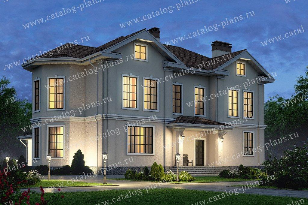 Проект жилой дом #58-82 материал - газобетон, стиль классический