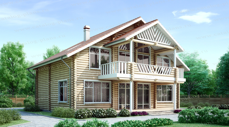 Проект жилой дом #10-98 материал - дерево, стиль современный
