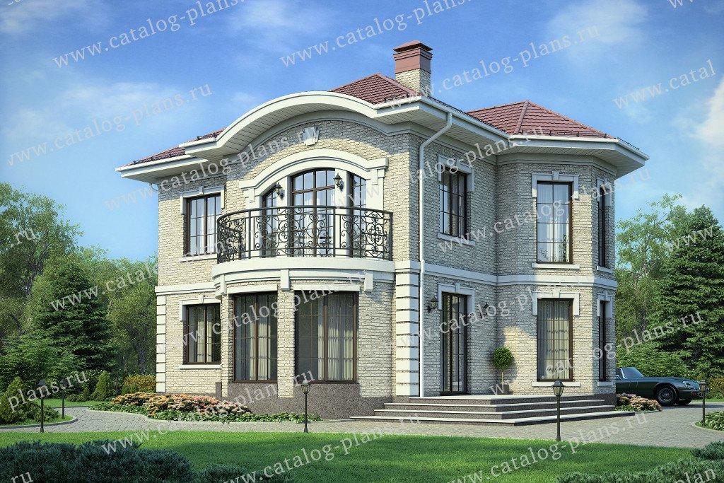 Проект жилой дом #40-75L материал - кирпич, стиль классический