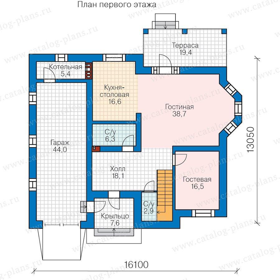 План 1-этажа проекта 58-78L