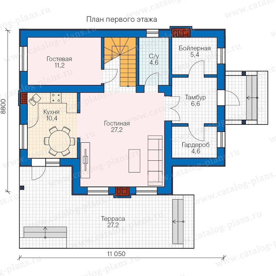 План 1-этажа проекта 58-79