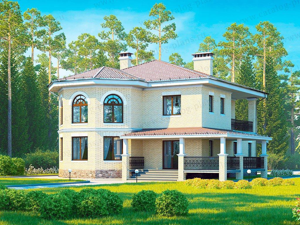 Проект жилой дом #40-13 материал - кирпич, стиль скандинавский