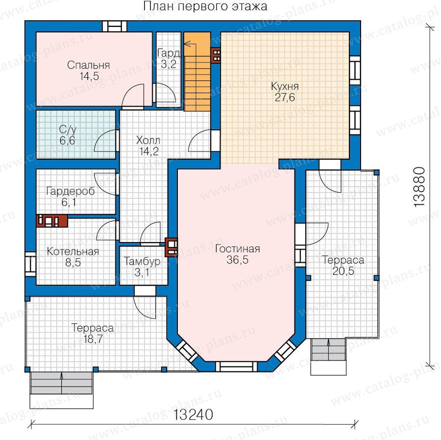 План 1-этажа проекта 58-81