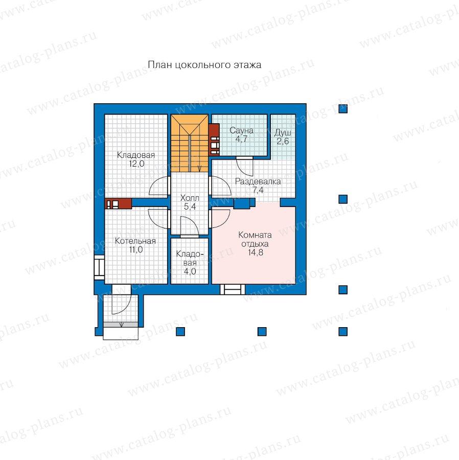 План 1-этажа проекта 58-80