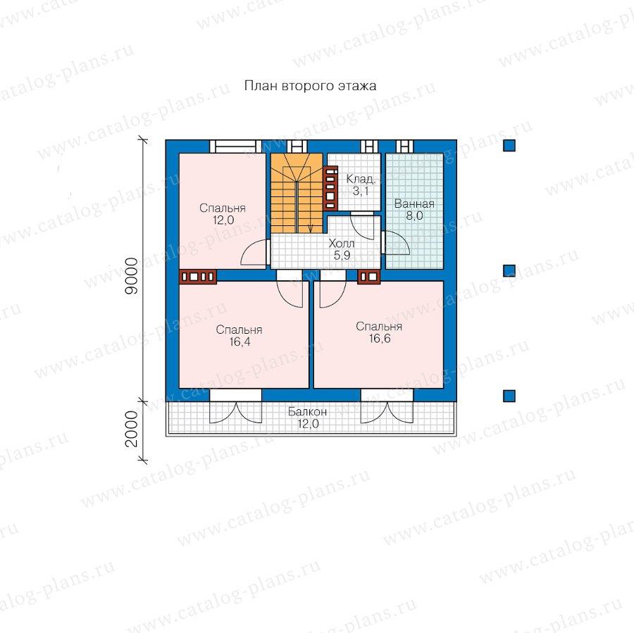 План 3-этажа проекта 58-80