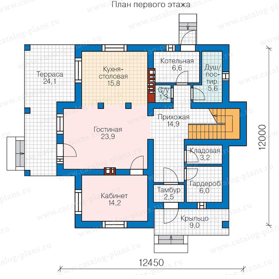 План 1-этажа проекта 57-00F