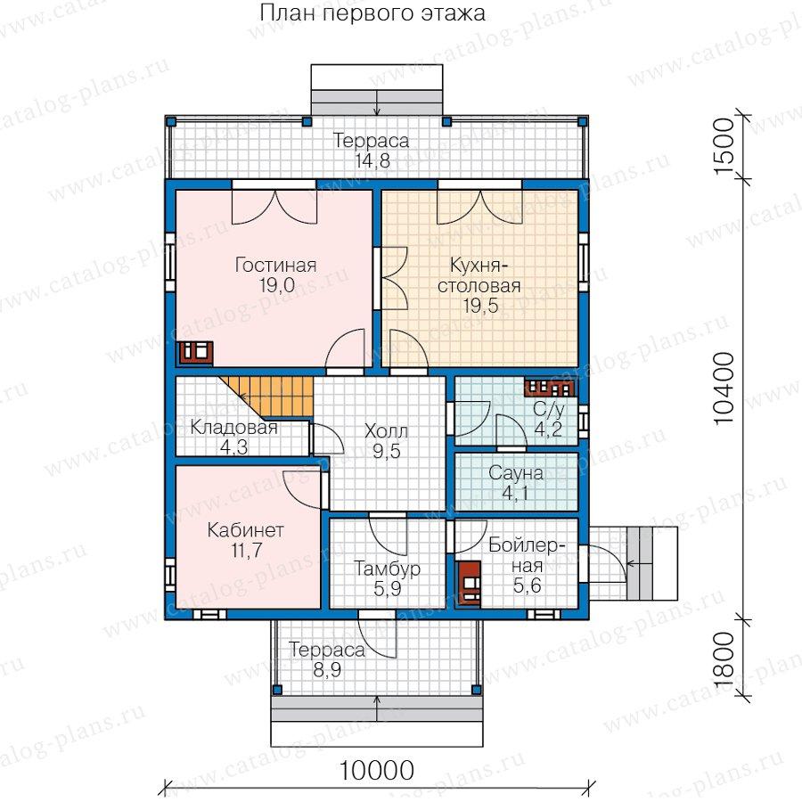 План 1-этажа проекта 70-84