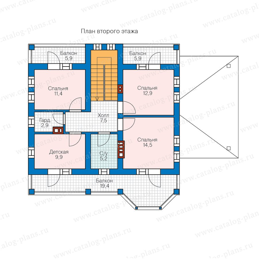План 2-этажа проекта 57-34B