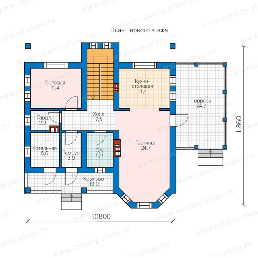 План 1-этажа проекта 57-34B