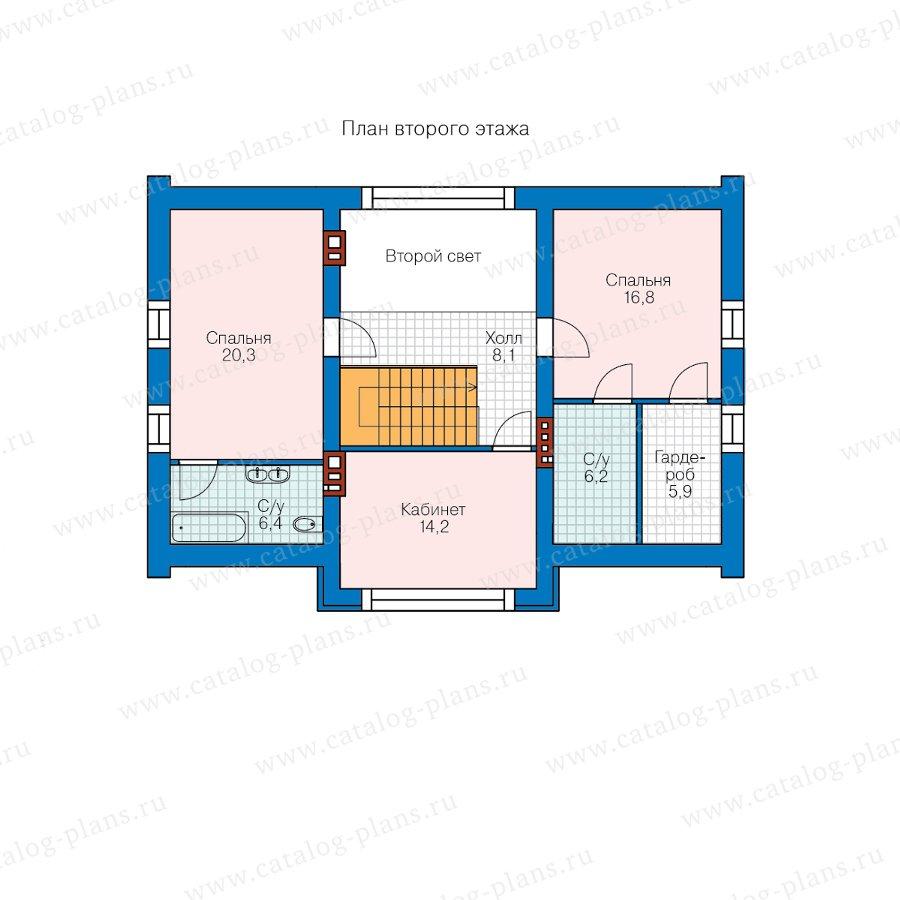 План 2-этажа проекта 40-72