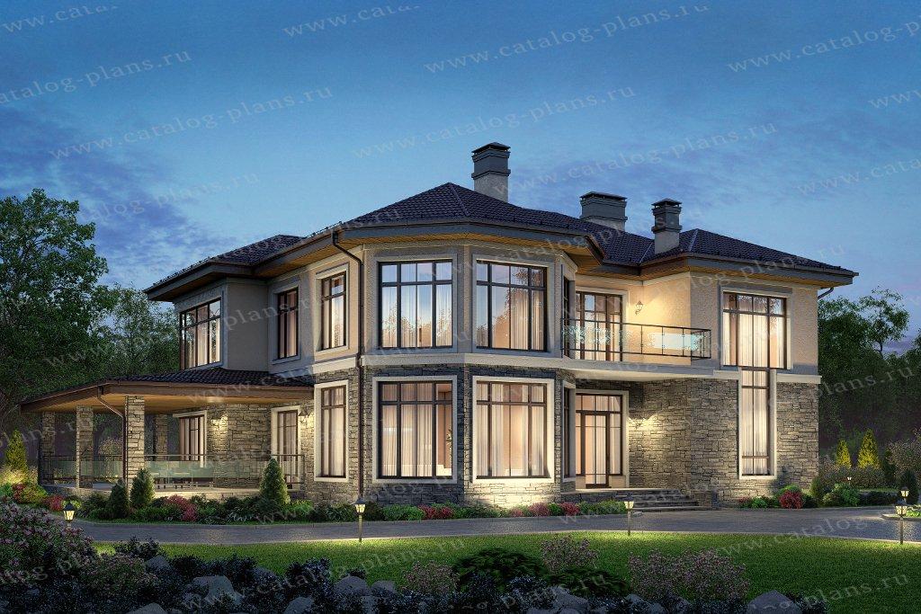 Проект жилой дом #48-21D материал - газобетон, стиль европейский
