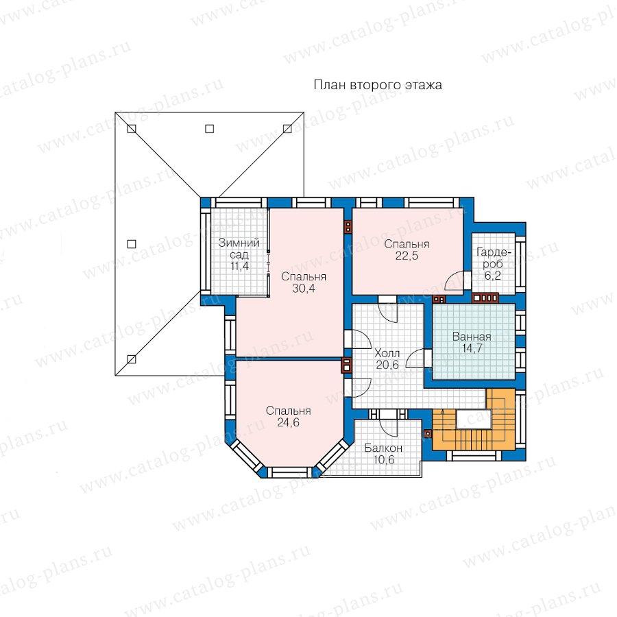 План 2-этажа проекта 48-21D