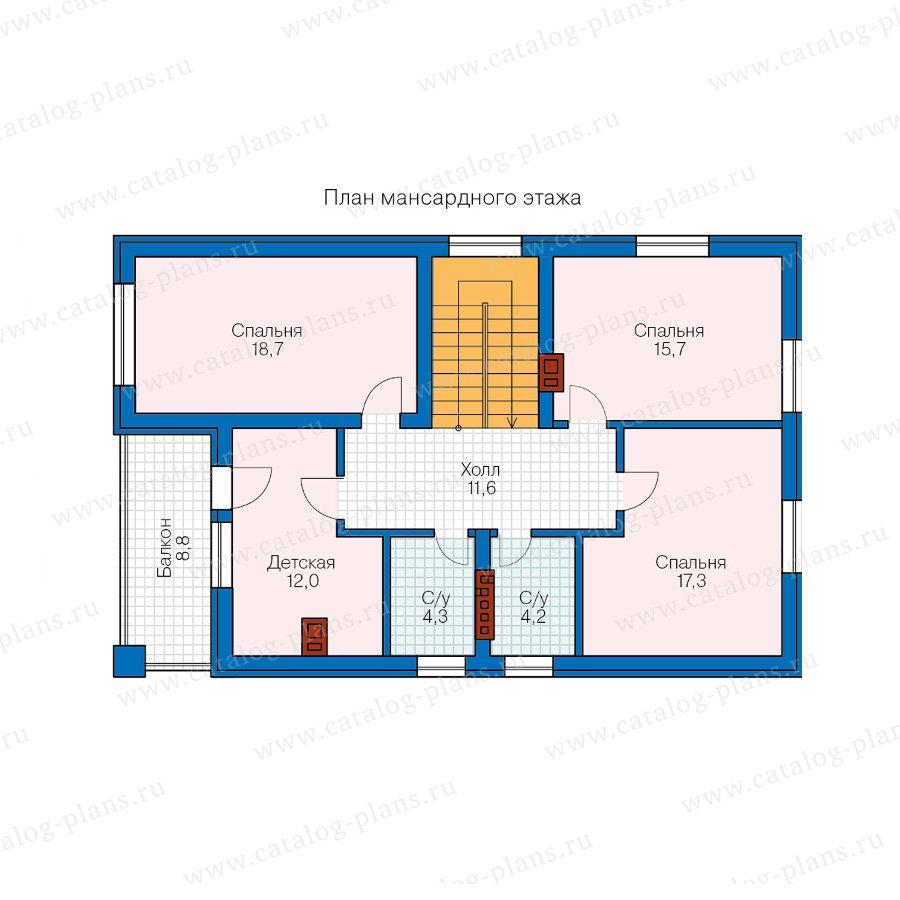 План 2-этажа проекта 40-71L